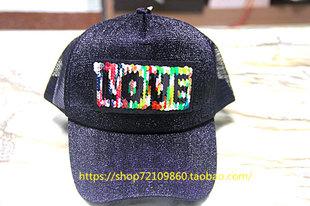 包邮春季夏季韩版网帽货车帽所有男女士鸭舌帽子嘻哈黑色彩色字母
