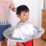 理发店专用防水斗篷可折叠收纳家用接碎发斗篷剪头发染头衣儿童