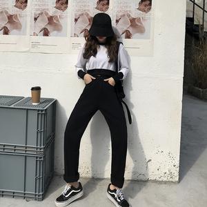 亚博娱乐平台入口#米白色牛仔阔腿裤秋冬加绒加厚高腰宽松加绒牛仔裤直筒裤子