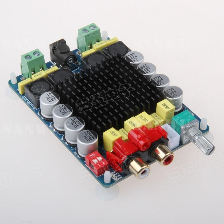TDA7498 мощности усилитель высокой мощности цифровой мощности усилитель платы 2X100W компьютер на усилитель 2 канальный стерео