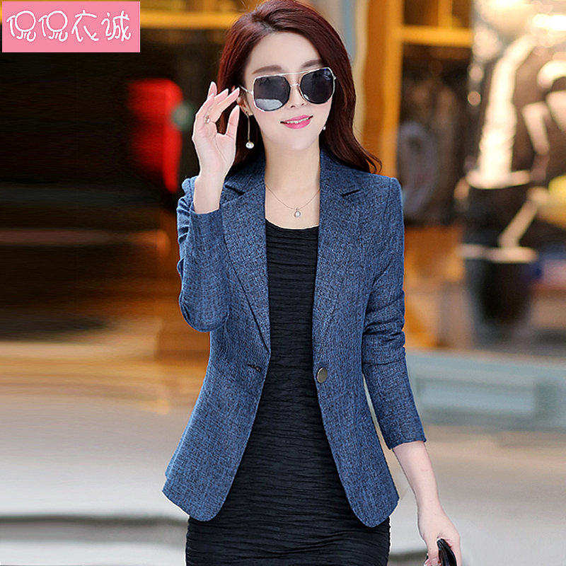 2020 spring new Slim small suit women's long sleeve casual ol Korean small suit short coat top