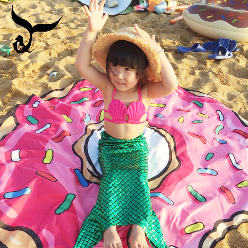 Childrens Mermaid swimsuit Girls Princess Mermaid tail swimsuit girls beach split bikini
