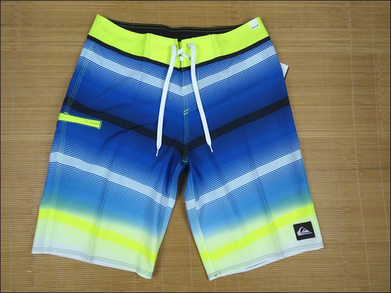 Quiksilver original single elastic mens beach pants pocket quick drying hot spring surf beach casual shorts 30-34
