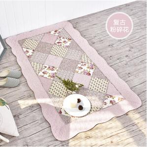 居家布艺韩式拼布防滑地垫门垫床边垫美式乡村纯棉环保宝宝爬行垫