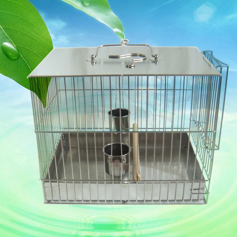 不锈钢鸟笼洗澡笼方形笼鹦鹉八哥鹩哥等鸟用洗澡笼包邮