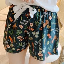 睡裤女夏短裤居家五分棉绸薄款可爱日系宽松可外穿短裤人造棉单裤