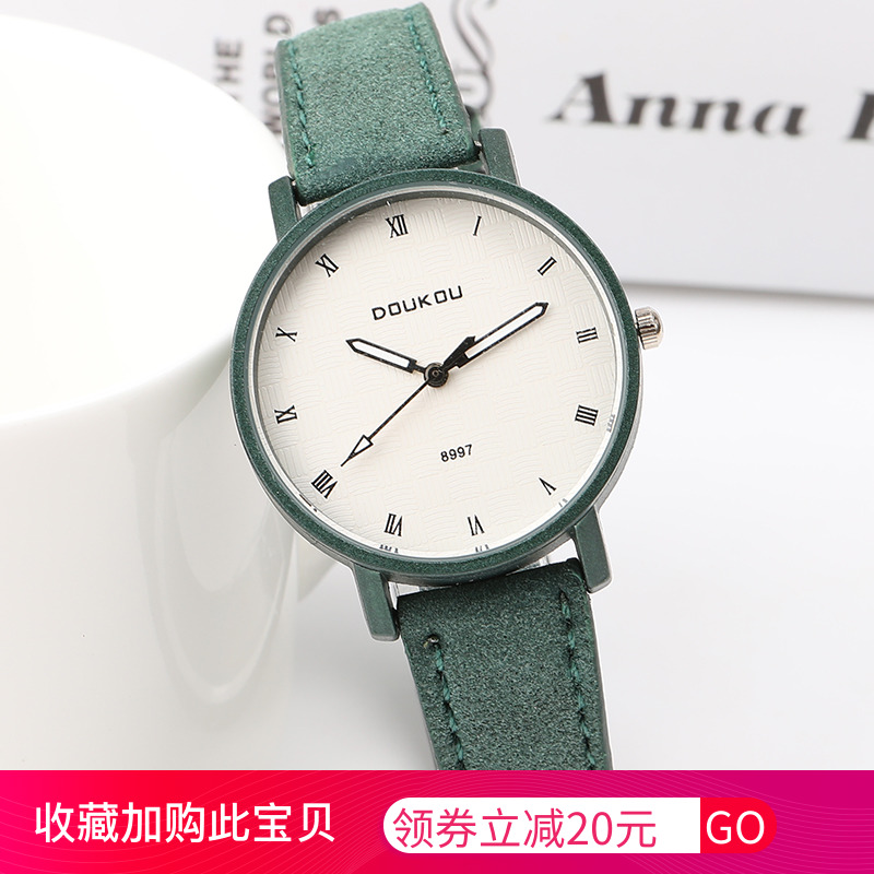 College style small fresh and versatile female student watch female girlfriend Korean version simple retro female watch female Department quartz watch
