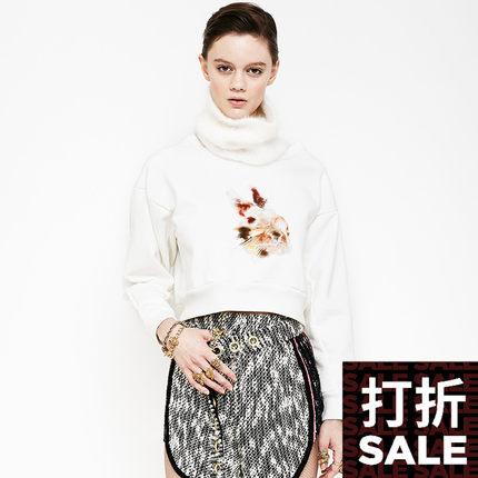 设计师新款 女宽松印花短套头衫 BABYGHOST-B080501