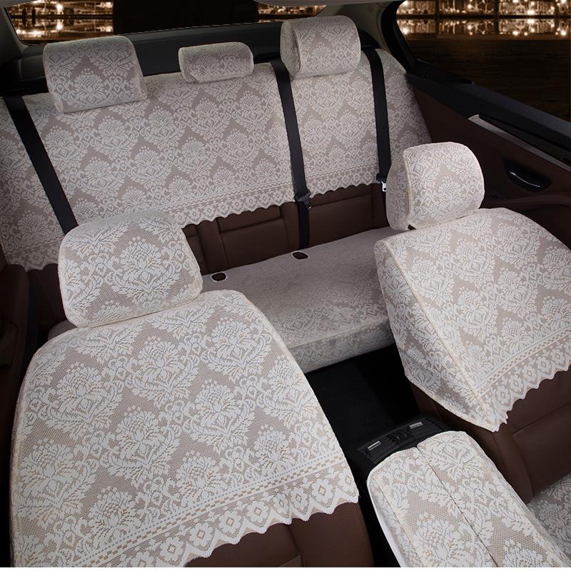 汽车坐垫座椅套四季通用半包刺绣加厚蕾丝坐垫套专车专用半截车套