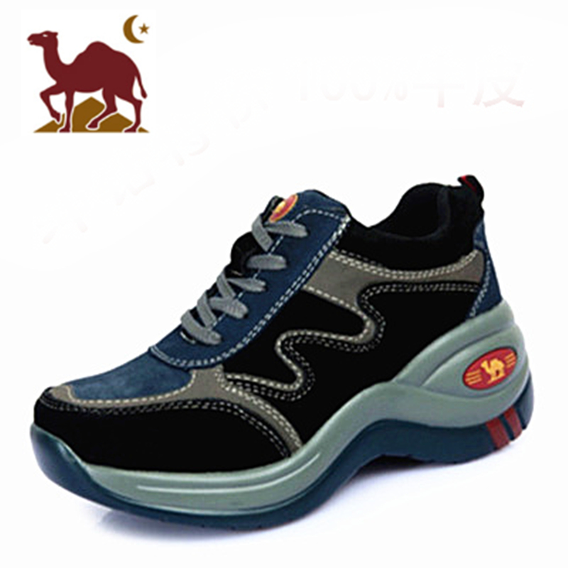 Camel women's shoes height-enhancing shoes 2020 new thick-soled wedges outdoor hiking leather