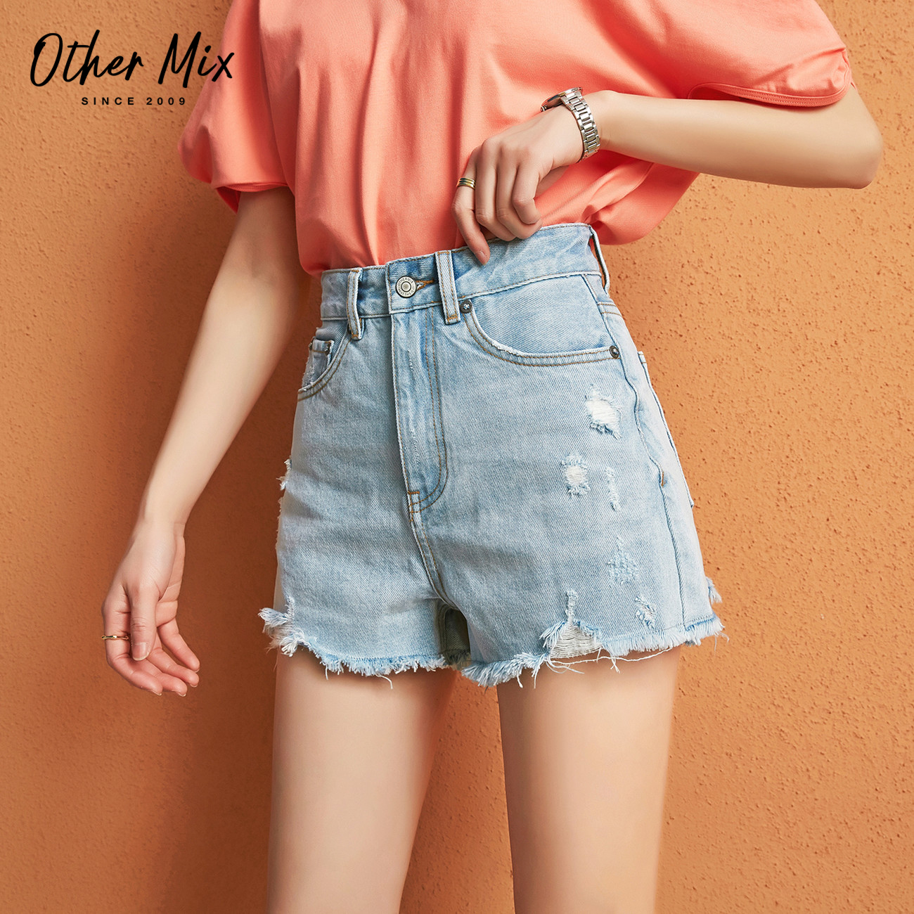 七格格夏季薄款牛仔短裤女高腰2020年新款韩版宽松显瘦破洞裤子潮 - 封面