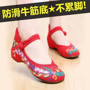 老北京布鞋牛筋底跳舞鞋舞蹈鞋民族风女鞋古风汉服鞋秀和鞋绣花鞋