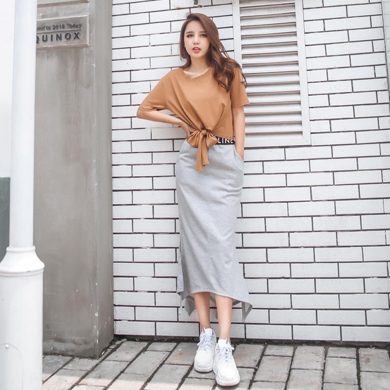 连衣裙2019新款夏季女装流行仙女超仙森系智熏法式桔梗裙子两件套10月15日最新优惠