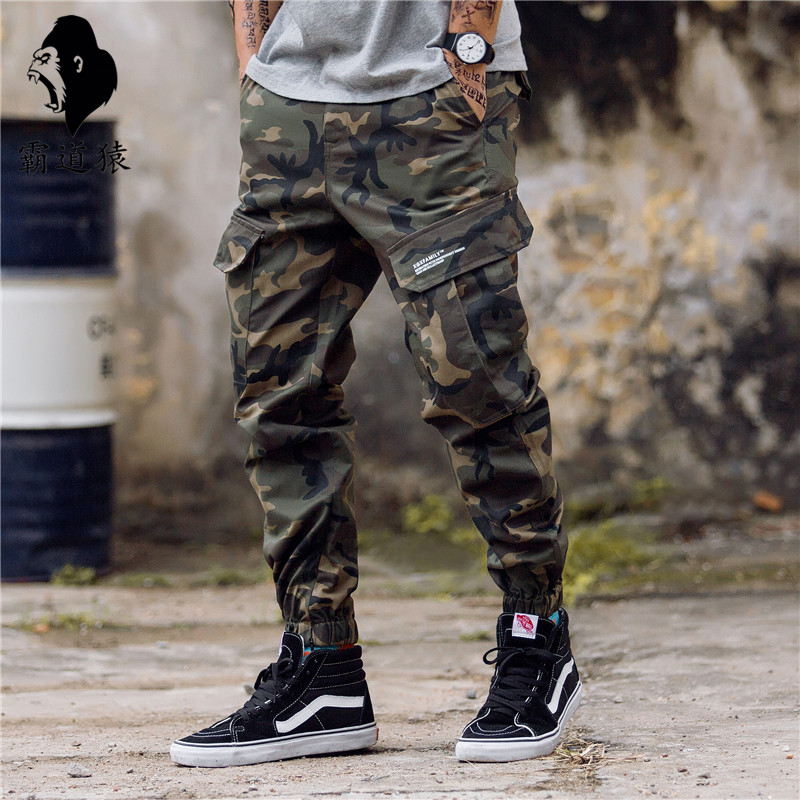 Domineering ape camouflage overalls muscle male brother sports pants dog fitness training Leggings jogging pants