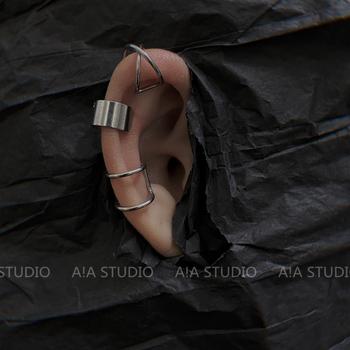 嘻哈街头个性韩版金属无耳洞耳骨夹