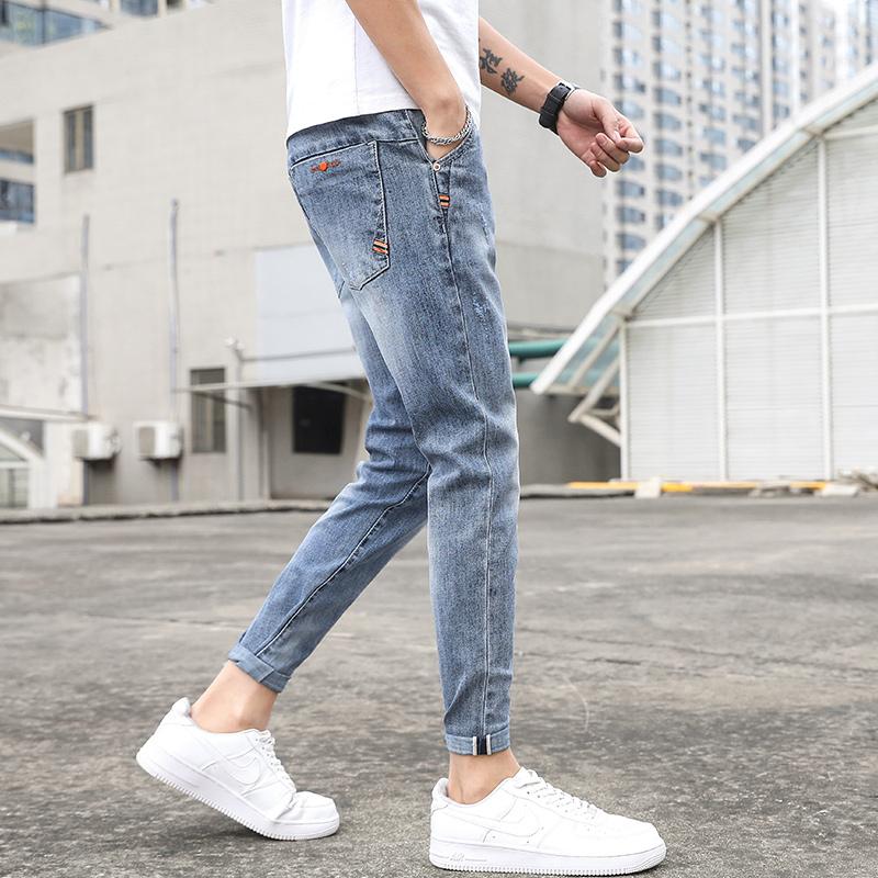 21春夏新款韩版百搭弹力修身小脚弹力牛仔裤男潮裤 K320-P50
