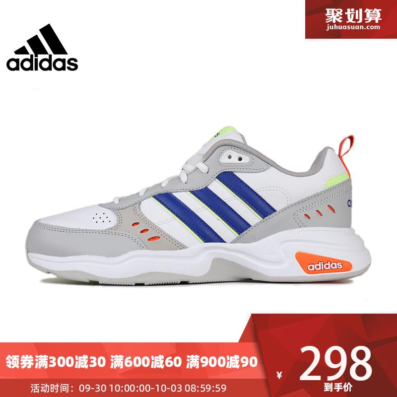 满300元可用30元优惠券adidas阿迪达斯19冬季新品男子休闲运动跑步鞋 EH0146