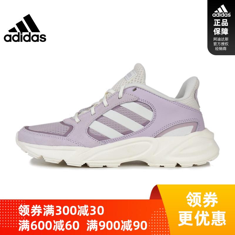 Adidas阿迪达斯19冬季新品女子90S VALASION运动跑步鞋 EE9912