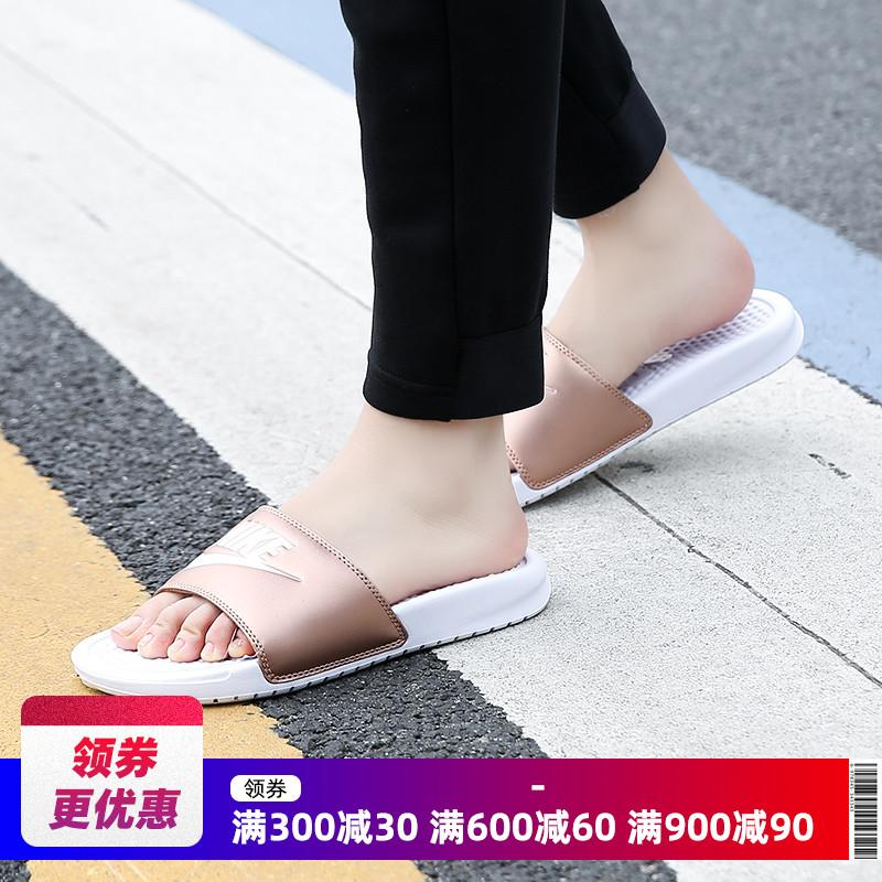 189.00元包邮nike 19夏季女子休闲343881拖鞋