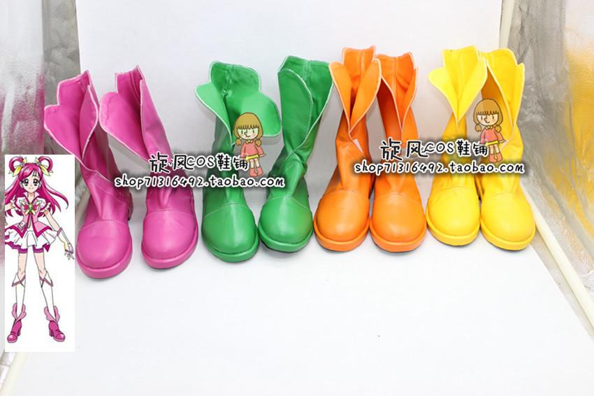 编号4914光之美少女 �籼焓� cosplay鞋 动漫COS鞋定做