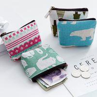 创意可爱迷你短款拉链零钱包女韩版学生卡通小硅胶帆布手拿硬币包