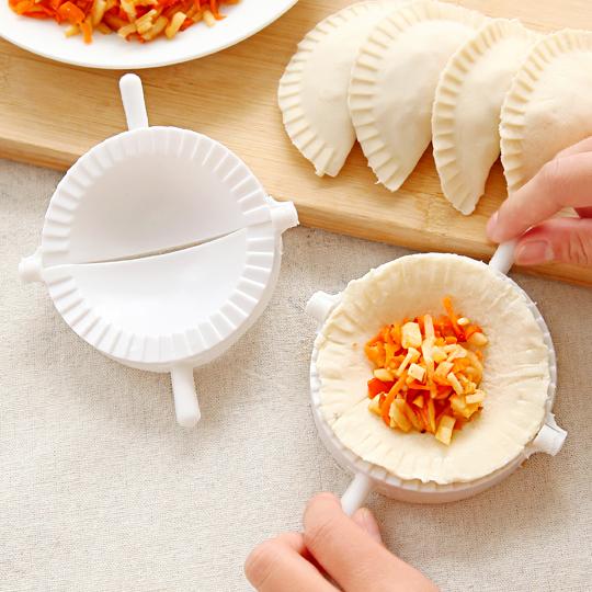 厨房饺子皮创意手动包饺子神器食品级塑料捏饺子夹家用包饺子模具