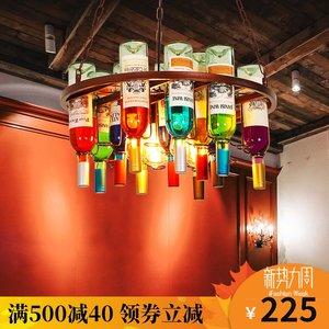 酒瓶吊灯创意个性音乐餐吧酒吧吧台复古工业风烧烤店啤酒瓶装饰灯