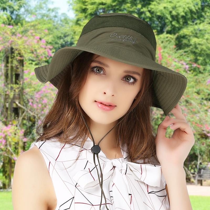 2020 summer new womens hat fishermans hat Outdoor Travel Beach Sun Hat Big Brim Hat sun hat