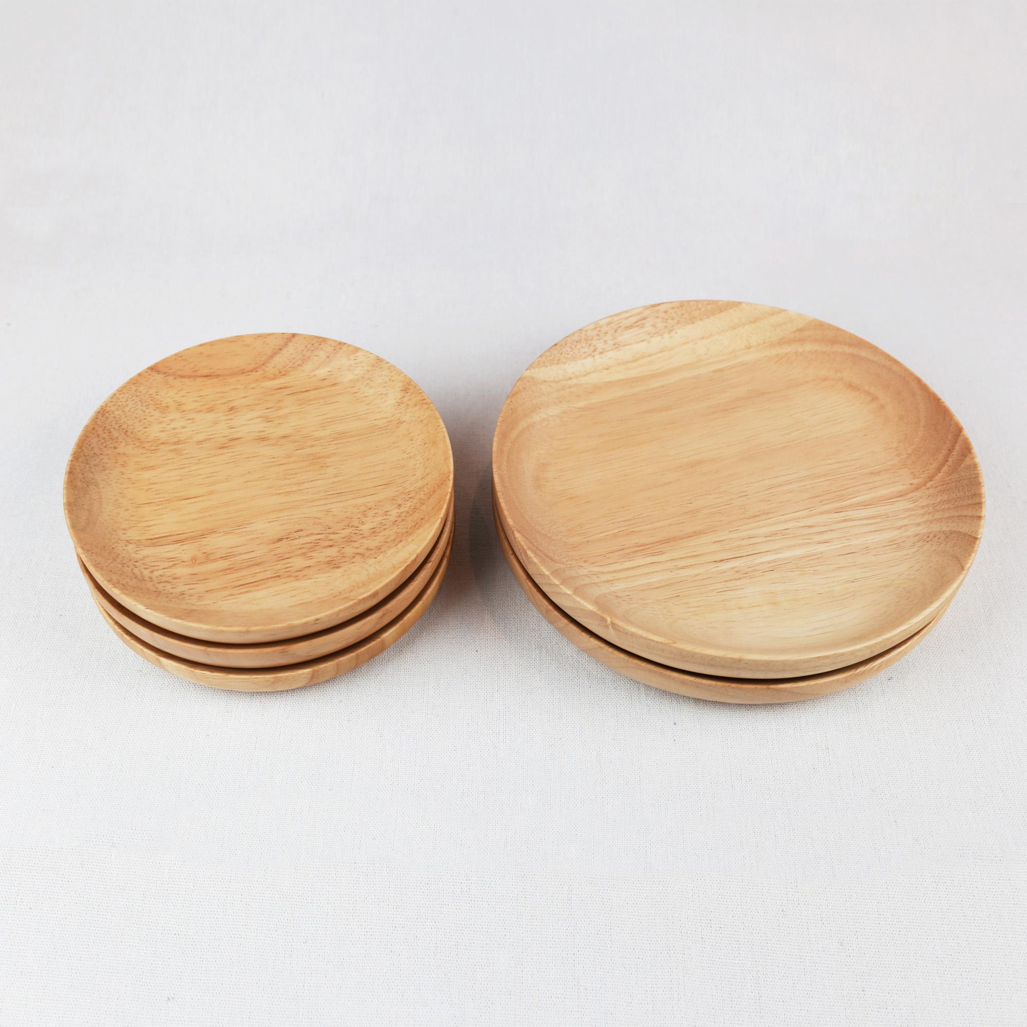 日式橡胶木果盘餐盘茶盘糕点盘托盘果盆杯垫零食盘糕点木质木制