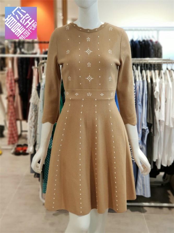包邮海外直邮 OLIVE DES OLIVE韩国专柜代购2018秋连衣裙OK8WO814