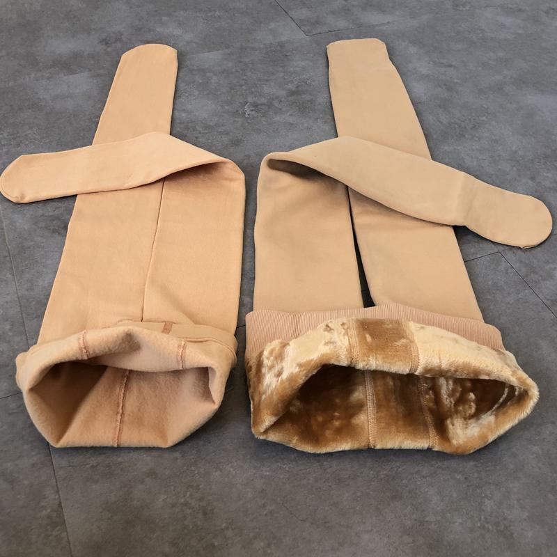 秋冬季儿童肉色打底袜加绒女童打底裤肤色丝袜连裤袜白色舞蹈袜子