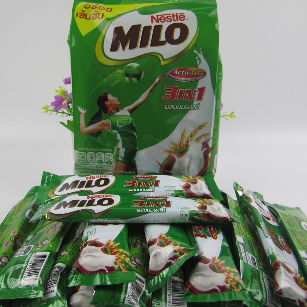 泰国进口零食 Nestle雀巢美禄Milo巧克力3in1可可冲饮450克