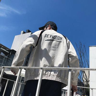 秋装ins复古工装外套男大码夹克青少年潮流夹克衫 JK08P85