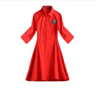 2020秋裝新款女裝劉亦菲明星同款紅色連衣裙氣質晚會結婚禮服紅裙