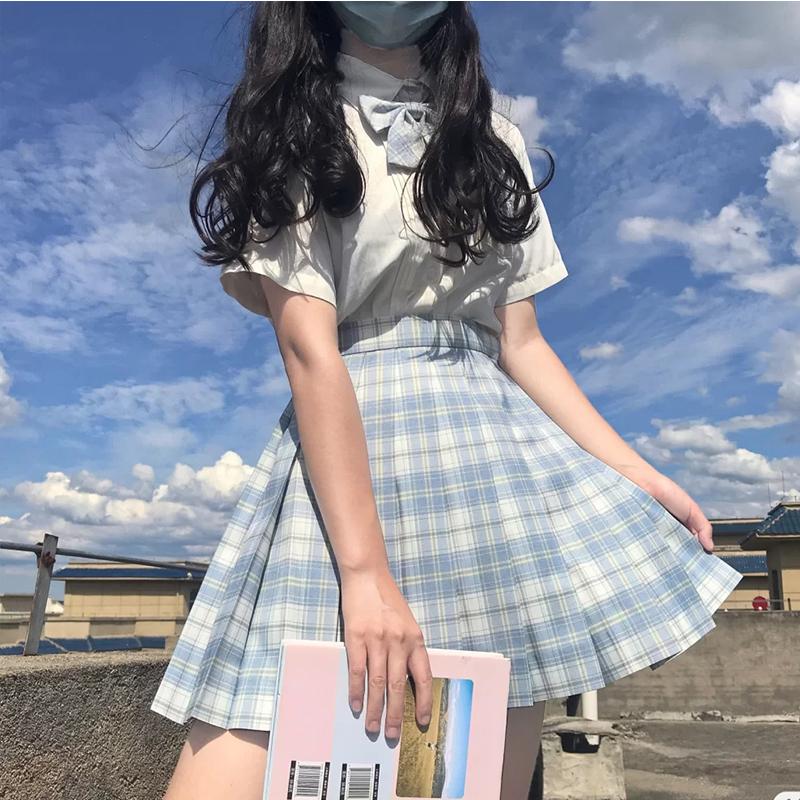 jk套装全套女正版jk制服长袖套装学生短袖套装夏季日系学院风格裙