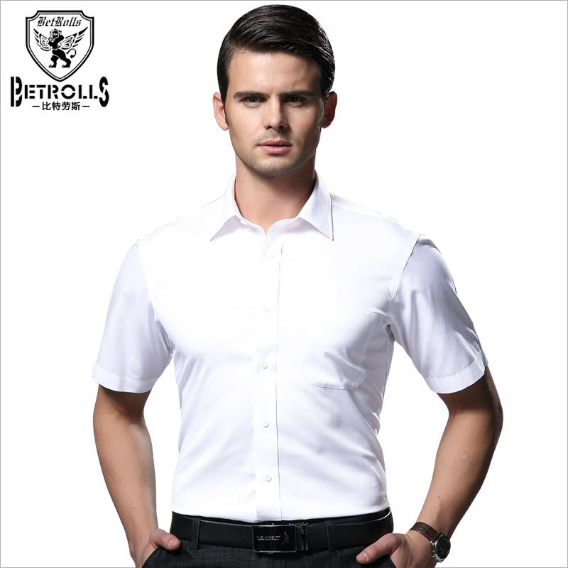 Authentic Bi Strauss formal mens iron free short sleeve shirt summer mens cotton business shirt tooling cotton