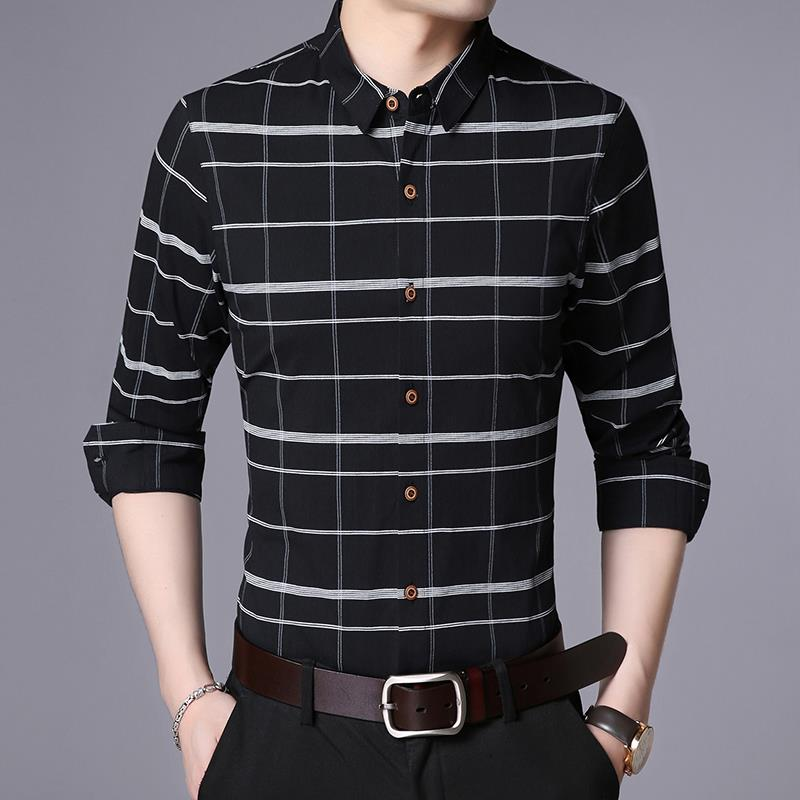 Original long sleeve shirt mens inch clothes spring new style mens clothes slim fit and easy to wear casual trend for young men