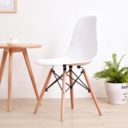 伊姆斯椅創意洽談辦公椅北歐餐椅休閑家用簡約現代實木書桌電腦椅