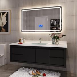 智能北欧浴室柜组合轻奢现代简约卫生间卫浴洗漱台池洗手洗脸盆柜图片