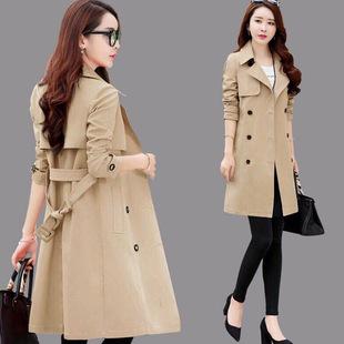 2020春装新款修身风衣女中长款春秋季韩版显瘦气质英伦风大码外套