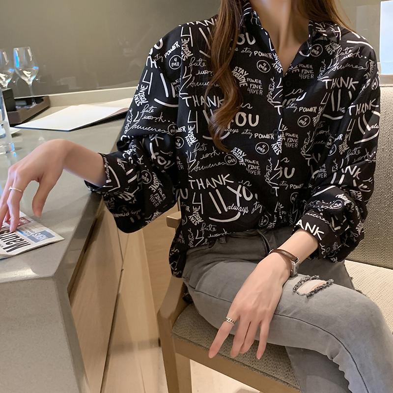 实拍 衬衫女设计感小众轻熟2021新款秋季复古港风chic上衣