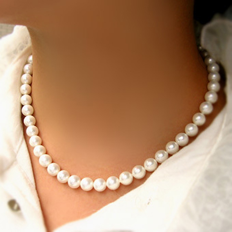 富贵南洋贝珠项链 贝珍珠项链 新娘项链 短项链 贝珠饰品超值377