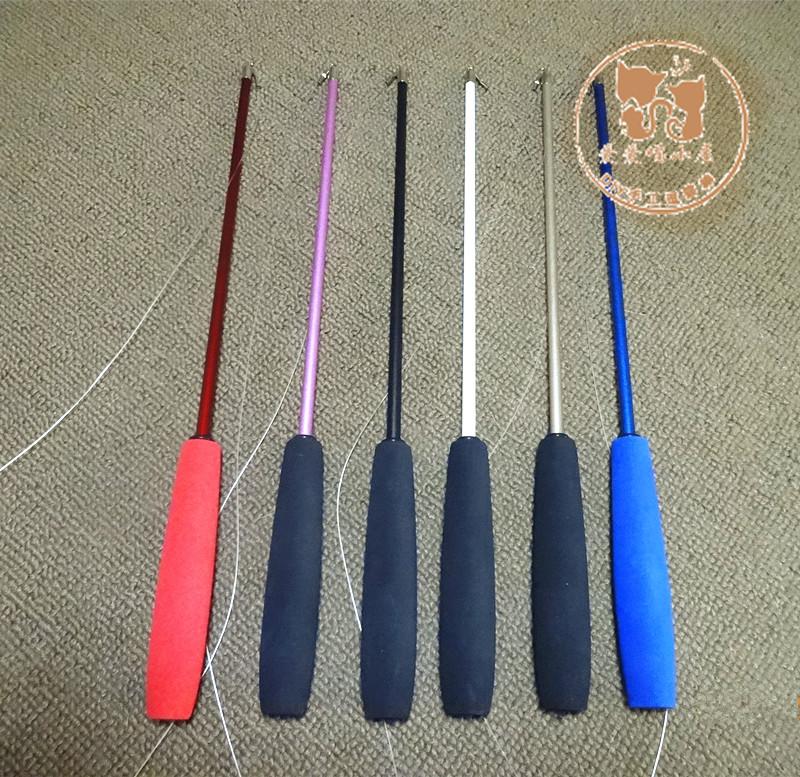 猫玩具逗猫棒diy材料钓鱼式斗猫棒伸缩猫杆无替换头逗猫用品配件