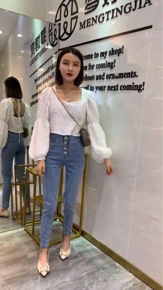 梦婷家女装货源夏季新品韩版时尚潮流百搭显高牛仔裤小中大