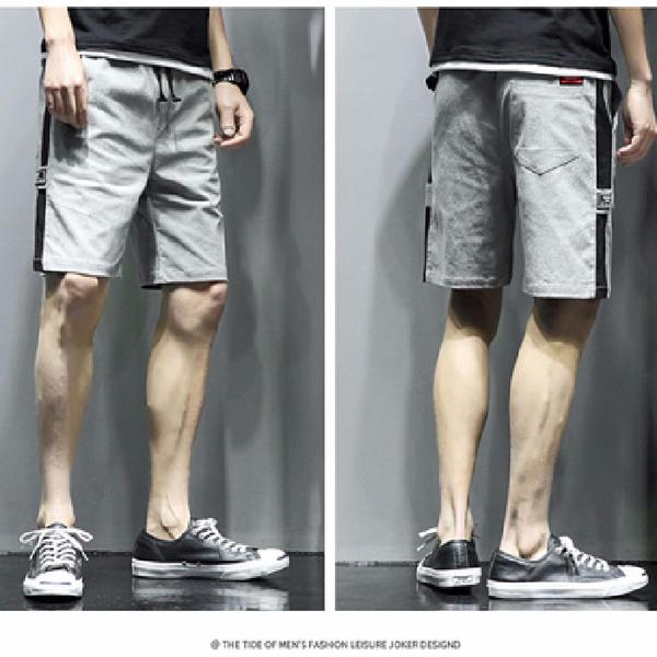 TS12230#短裤男夏迷彩五分裤男士潮流休闲裤港风中裤宽松沙滩裤