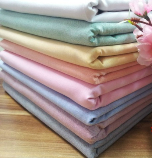 High grade cotton pure color Oxford fabric pure cotton plain color shirt dress tablecloth sofa pillow thickened