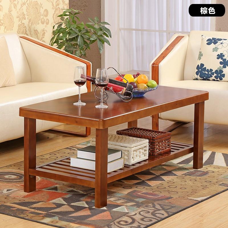 现代实木客厅松木客厅小户型田园客厅简约边几实木家具茶几小客厅