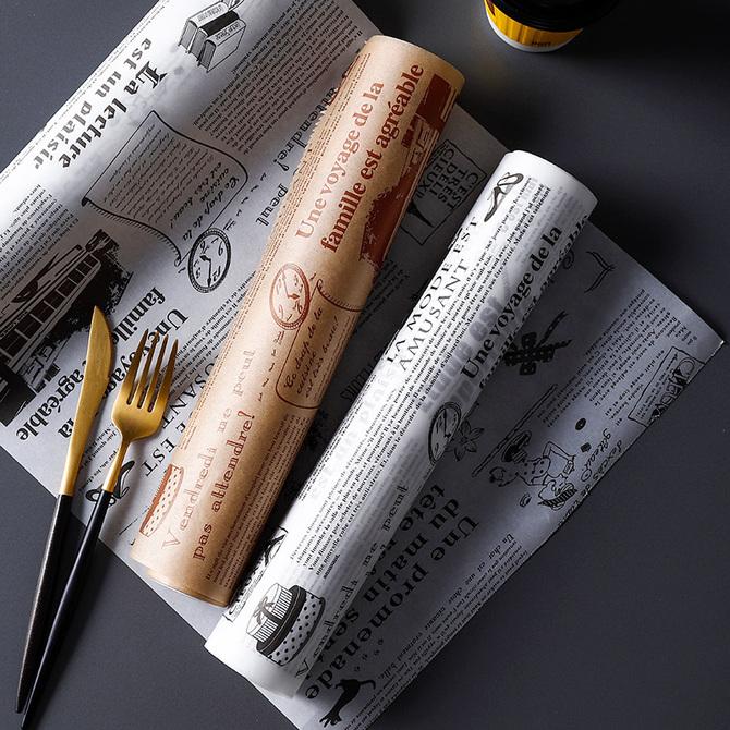 厨房吸油纸食物专用油炸食品烧烤去油纸烤箱烘焙纸垫吸油膜 鹿谷川