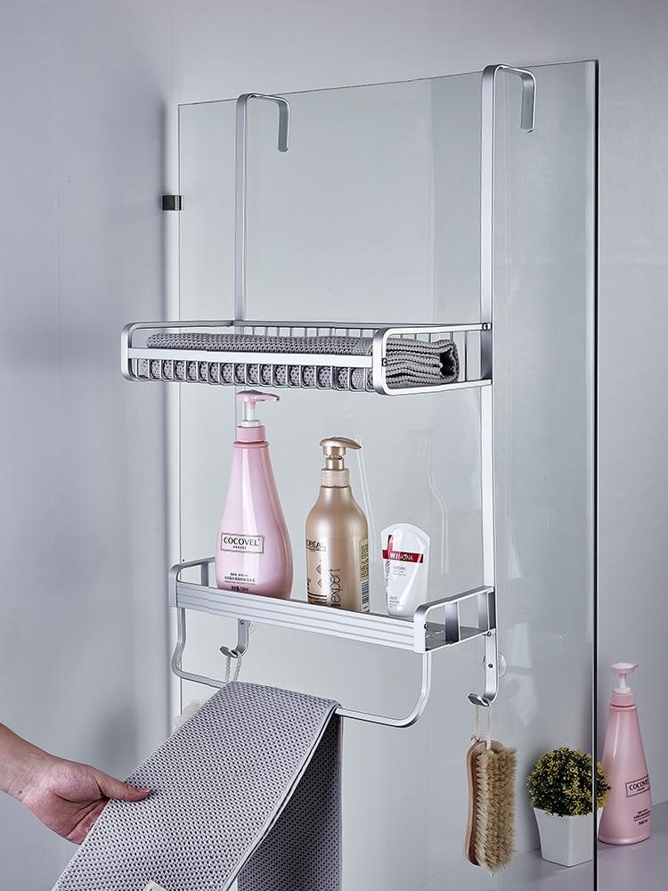 高档淋浴房置物架浴室洗手间不锈钢壁挂冲凉房挂篮免打孔卫生间收