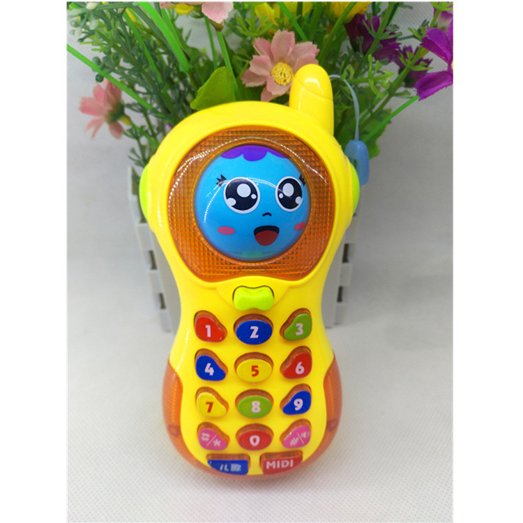 爱儿优婴儿智能早教变脸音乐手机宝宝玩具音乐电话儿童防真大哥大